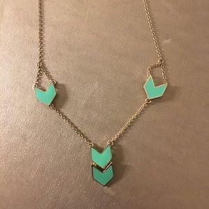 Turquoise Arrow Pendant Necklace